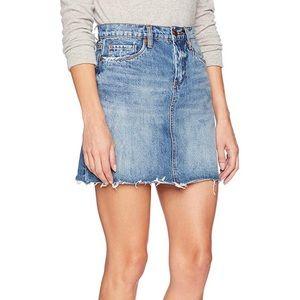 Blank NYC Distressed Denim Mini Skirt